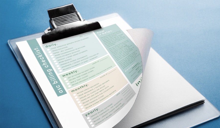 Implementing the ASC Billing Checklist